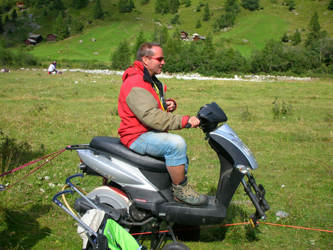 treuil fixe parapente scooter