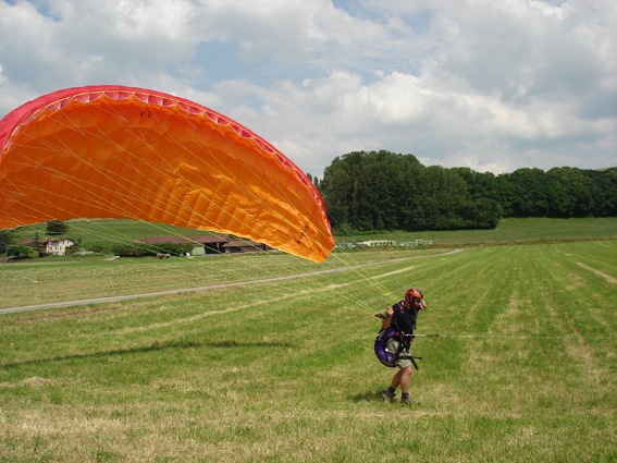 treuil fixe parapente gonflage